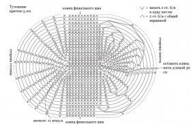 Белый козлик крючком - Схема 1