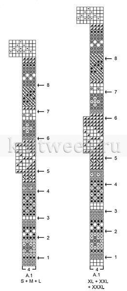 Джемпер черничный квас - Схема 2