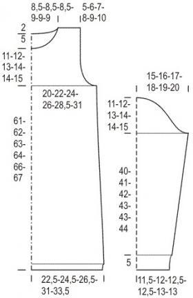 Туника с ажурными листьями и высоким воротником - Выкройка 1