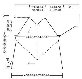 Пуловер Пастельные краски - Выкройка 1