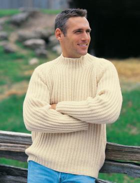 Пуловер с рельефными полосами