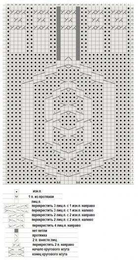 Митенки Камелот - Схема 1