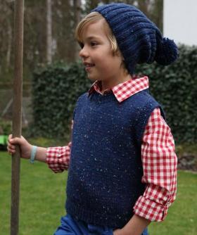 Безрукавка и шапка для мальчика