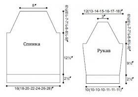 Джемпер Чина - Выкройка 1