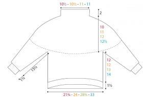 Пуловер с узором из шевронов - Выкройка 1