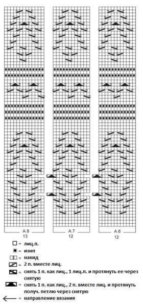 Жакет с прямоугольными полочками и ажуром - Схема 1