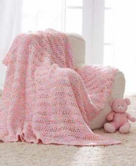 Одеяло с рельефными полосами