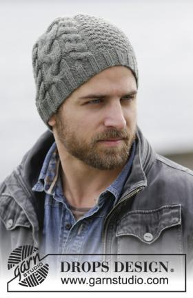 Мужская шапка со жгутами