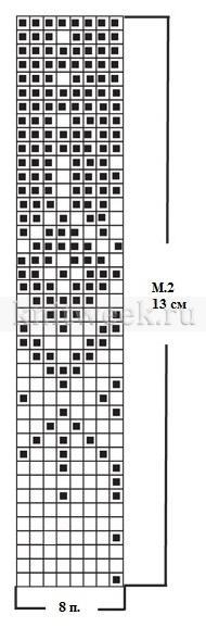 Гольфы с жаккардовым узором - Схема 1