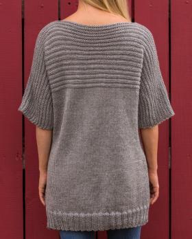 Свободный свитер с цельнокроеным рукавом - Фото 1