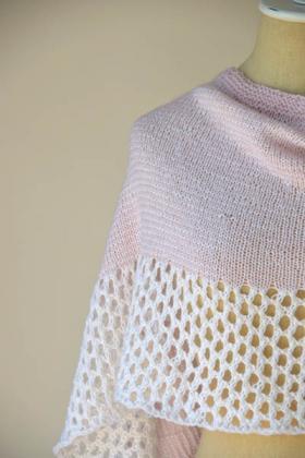 Палантин розовый зефир - Фото 2
