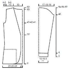 Жакет с круглыми полочками и карманами - Выкройка 1