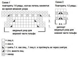 Гольфы с узором павлинье перо - Схема 1
