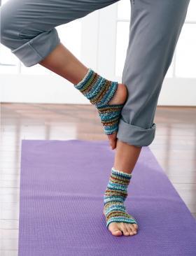Носки для йоги в полоску