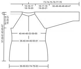 Приталенный жакет реглан с узорами - Выкройка 1
