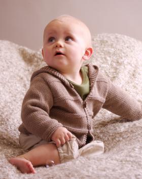 Жакет с капюшоном для малыша