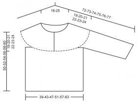 Свитер резинкой спицами с застежкой поло - Выкройка 1