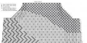 Пуловер с теневыми и ажурными узорами - Схема 3