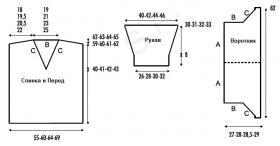 Ажурная туника с глубоким вырезом - Выкройка 1