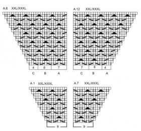 Кардиган зимняя грация - Схема 5