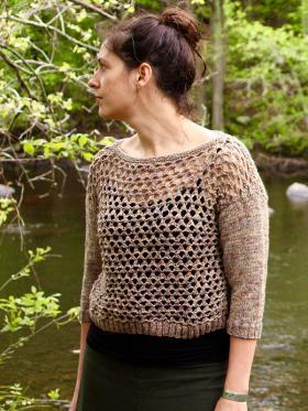 Пуловер пятилистник