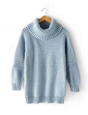 Пуловер с высоким отложным воротником - Фото 2