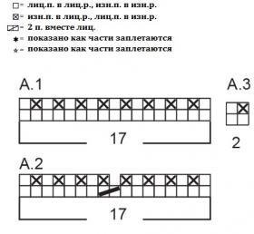 Шапка Гарбо - Схема 1