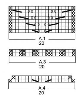 Варежки золотарник - Схема 1