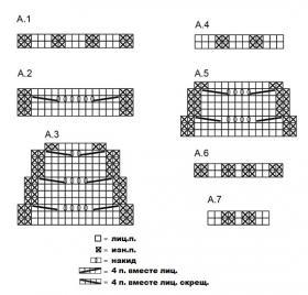 Шапка и снуд Малин - Схема 1