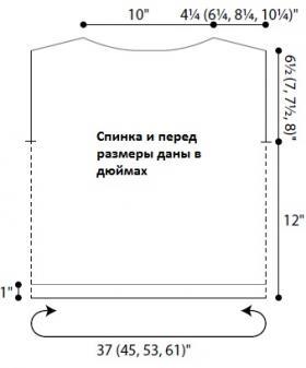 Топ Ирас - Выкройка 1