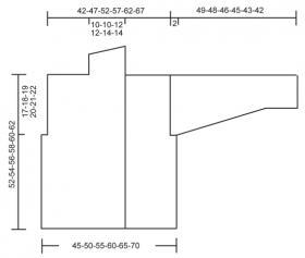 Жакет крючком с узором ромбы - Выкройка 1
