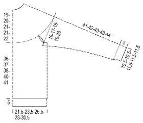 Джемпер северное сияние - Выкройка 1