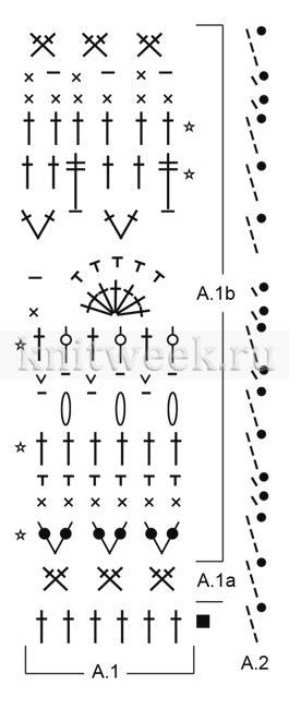 Юбка ягодная рябь - Схема 2