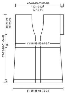 Длинный жилет спицами с ажурными дорожками - Выкройка 1