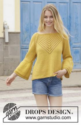 Пуловер Привет желтый