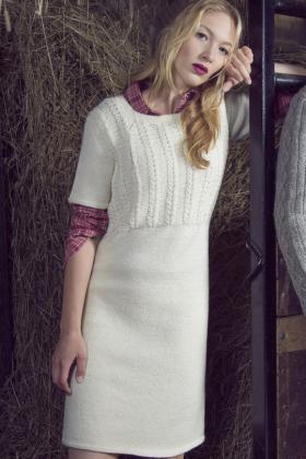 Платье с узором косы на кокетке