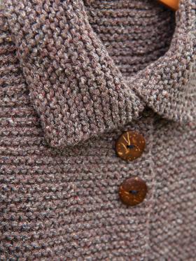Детское пальто чулочной вязкой - Фото 1