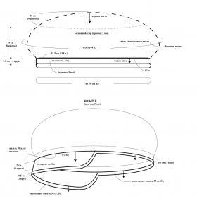Кепка с закругленными краями - Выкройка 1