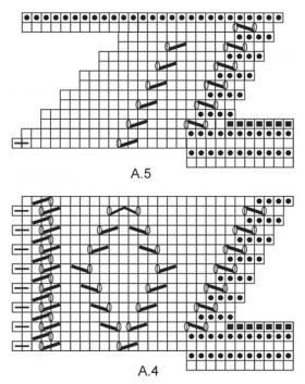 Треугольная шаль платочным узором - Схема 2