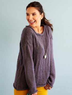Пуловер легкий шик со съёмным воротником - Фото 2
