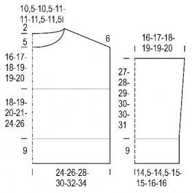 Свитер с прямоугольной выкройкой - Выкройка 1