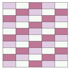 Плед из квадратов платочным узором - Выкройка 1