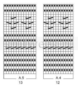 Жакет с прямоугольными полочками и ажуром - Схема 2