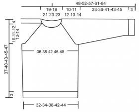 Джемпер с рукавом реглан - Выкройка 1