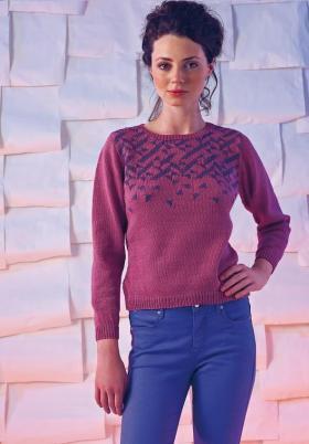 Элегантный пуловер с геометрическим орнаментом