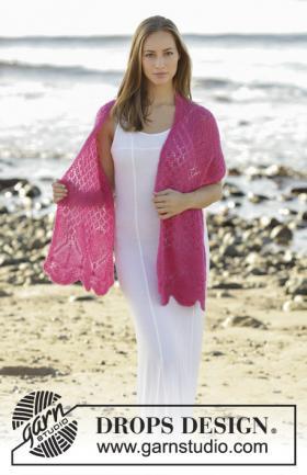 Легкий шарф открытое сердце