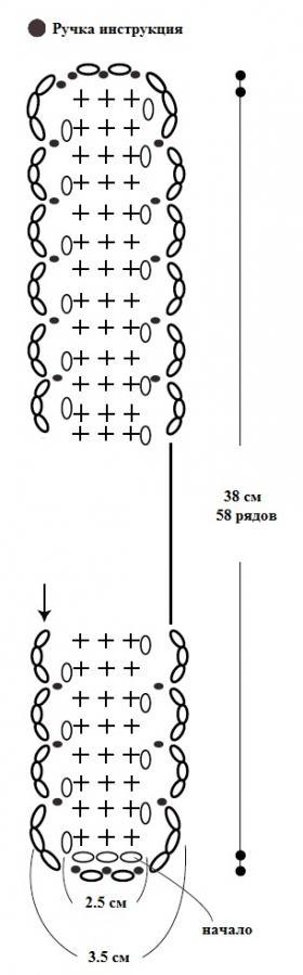 Сумка из льняной пряжи - Схема 2