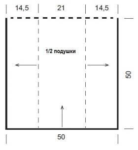Плед и подушка со жгутами и ажурными элементами - Выкройка 1