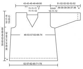Пуловер Жемчужина - Выкройка 1