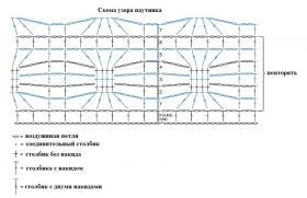 Летний топ крючком с узором паутинка - Схема 1